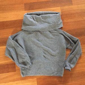 Zara knit gray off the shoulder sweater Med NWOT